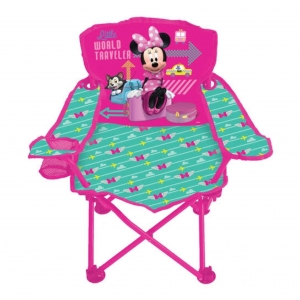 เก้าอี้ปิกนิกพับได้สำหรับเด็ก Disney Mickey Mouse Club House Fold 'N Go Chair (Minnie Mouse)