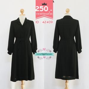 (ID 4261 จองคะ)42409 size38-34-38 เดรสสีดำ