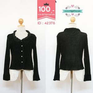 (ID 4258 จองคะ)42376 size40 เสื้อคลุม เสื้อกันหนาว เสื้อไหมพรม