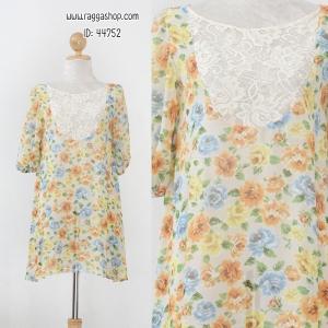 44752 size36 ผ้าชีฟองบาง (ID 6907 จองคะ)