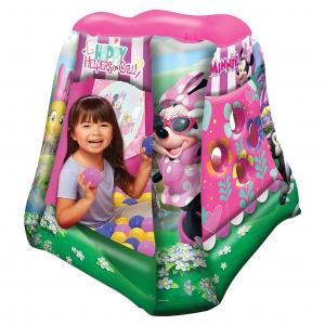 เต็นท์เป่าลมพร้อมลูกบอลสำหรับเด็ก Jakks Pacific Playland with 20 Soft Flex Balls (Disney Junior Minnie Mouse Happy Helpers On Call)