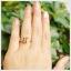 แหวนซิทรินแท้ ทรงสี่เหลี่ยม เงินแท้ชุบทองคำขาว thumbnail 4