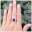 แหวนอเมทิสต์แท้ ล้อมเพชรCZ อย่างสวยงาม โดดเด่นสะดุดตา thumbnail 5