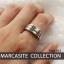 แหวนเงินแท้มาร์คาไซท์สวารอฟสกี้ ประดับหินสี thumbnail 3