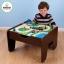 โต๊ะกิจกรรมสำหรับเลโก้พร้อมชุดรถไฟ Kidkraft 2-in-1 Activity Table with LEGO-Compatible Board and Train Set (Espresso) thumbnail 11