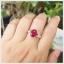 แหวนทับทิมแท้ สีแดงเลือดนก สวยเก๋ ดูมีไตล์ thumbnail 5