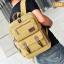 VT07- Green กระเป๋าเป้แคนวาส กระเป๋าผู้ชาย สีเขียว thumbnail 41