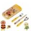 ชุดอุปกรณ์รับประทานอาหารสำหรับเด็ก Anpanman Spoon, Fork & Chopsticks Trio Set with Sliding Box thumbnail 1