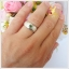 แหวนเขียวส่องแท้ เงินแท้ ชุบทองคำขาว thumbnail 4