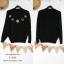 46089 อก44 เสื้อไหมพรมบางสีดำ (ID 6122 จองคะ) thumbnail 1
