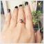 แหวนนพเก้า รูปดอกไม้ ชุบทองคำแท้ thumbnail 6