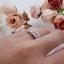 แหวนประดับเพชรฝังหนามเตย 5 เม็ด หุ้มทองคำขาวแท้ thumbnail 2