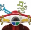รถจักรยานสามล้อทรงเวสป้า Radio Flyer Classic Lights & Sounds Trike (Red) thumbnail 3