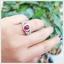 แหวนทับทิมแท้ หลังเบี้ย สีแดงเลือดนก สวยเก๋ดูดีมีสไตล์ thumbnail 6