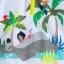 ชุดว่ายน้ำป้องกันรังสียูวีสำหรับทารกและเด็กเล็ก Disney Hooded Rash Guard & Swim Trunks for Baby (The Jungle Book) thumbnail 4