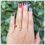 แหวนนพเก้า ทองแท้ ฝังใต้ท้องแหวนเก๋ๆ (สอบถามราคา) thumbnail 4
