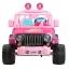 รถจี๊ปบาร์บี้พลังแรงสูงแบบ 2 ที่นั่งสำหรับลูกสาว Fisher-Price รุ่น Power Wheels Barbie Jammin' Jeep Wrangler 12-Volt Battery Powered Ride-On (Pink) thumbnail 2