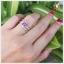 แหวนพิงค์ทัวร์มาลีนแท้ เงินแท้ ชุบทองคำขาว thumbnail 4