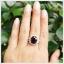 แหวนโกเมนแท้ ล้อมเพชรCZ สวยงามโดดเด่นสะดุดตา thumbnail 6