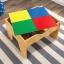 โต๊ะกิจกรรมสำหรับเลโก้พร้อมชุดรถไฟ Kidkraft 2-in-1 Activity Table with LEGO-Compatible Board and Train Set (Natural) thumbnail 9