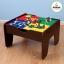 โต๊ะกิจกรรมสำหรับเลโก้พร้อมชุดรถไฟ Kidkraft 2-in-1 Activity Table with LEGO-Compatible Board and Train Set (Espresso) thumbnail 3