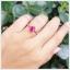 แหวนทับทิม เงินแท้ ชุบทองคำขาว thumbnail 4