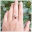 แหวนโกเมน ทองแท้ ดีไซน์เก๋ๆ ใบมะกอก (สามารถสั่งทำได้ค่ะ) thumbnail 4