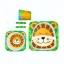ชุดรับประทานอาหารปลอดสารพิษจากเยื่อไผ่ธรรมชาติ Yookidoo Natural Bamboo Fiber Kid Picnic Set (Lion) thumbnail 1
