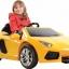 รถแบตเตอรี่พร้อมรีโมทบังคับ Lamborghini Aventador LP700 6V Battery-Powered Ride-On (Yellow) thumbnail 4