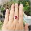 แหวนทับทิมแท้ สีแดงเลือดนก สวยเก๋ ดูมีไตล์ thumbnail 4