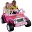 รถจี๊ปบาร์บี้พลังแรงสูงแบบ 2 ที่นั่งสำหรับลูกสาว Fisher-Price รุ่น Power Wheels Barbie Jammin' Jeep Wrangler 12-Volt Battery Powered Ride-On (Pink) thumbnail 1