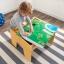 โต๊ะกิจกรรมสำหรับเลโก้พร้อมชุดรถไฟ Kidkraft 2-in-1 Activity Table with LEGO-Compatible Board and Train Set (Natural) thumbnail 10