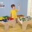 โต๊ะกิจกรรมสำหรับเลโก้พร้อมชุดรถไฟ Kidkraft 2-in-1 Activity Table with LEGO-Compatible Board and Train Set (Natural) thumbnail 13