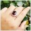 แหวนโกเมนแท้ ล้อมเพชรCZ สวยงามโดดเด่นสะดุดตา thumbnail 5