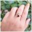 แหวนโกเมน ทองแท้ ดีไซน์เก๋ๆ ใบมะกอก (สามารถสั่งทำได้ค่ะ) thumbnail 5