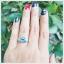 แหวนสวิสบลูโทแพซแท้ เสริมเสน่ห์ใส่ติดนิ้วน่ารักๆ thumbnail 5
