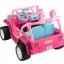 รถจี๊ปบาร์บี้พลังแรงสูงแบบ 2 ที่นั่งสำหรับลูกสาว Fisher-Price รุ่น Power Wheels Barbie Jammin' Jeep Wrangler 12-Volt Battery Powered Ride-On (Pink) thumbnail 5