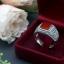 แหวนเงินแท้มาร์คาไซท์ ประดับหินสีรูปเหลี่ยม thumbnail 3
