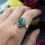 แหวนเงินแท้มาร์คาไซท์ ประดับหินสีรูปไข่ thumbnail 3