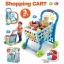 รถเข็นซุปเปอร์มาร์เก็ตพร้อมที่นั่งตุ๊กตา Kids Shopping 3-in-1 Cart (Blue) thumbnail 1