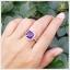 แหวนอเมทิสต์แท้ ล้อมเพชรCZ อย่างสวยงาม โดดเด่นสะดุดตา thumbnail 6