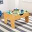 โต๊ะกิจกรรมสำหรับเลโก้พร้อมชุดรถไฟ Kidkraft 2-in-1 Activity Table with LEGO-Compatible Board and Train Set (Natural) thumbnail 6