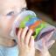 แก้วหัดดื่มสำหรับเด็กเล็ก evenflo Tilty TripleFlo (Pink) thumbnail 2