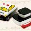 กล่องอาหารกลางวันและของว่าง Skater Tomica Bento Lunch Box (Police Car) thumbnail 7