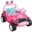 รถจี๊ปบาร์บี้พลังแรงสูงแบบ 2 ที่นั่งสำหรับลูกสาว Fisher-Price รุ่น Power Wheels Barbie Jammin' Jeep Wrangler 12-Volt Battery Powered Ride-On (Pink) thumbnail 3