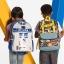 กระเป๋าสะพายพร้อมมือจับและล้อลาก Disney Talking Light-Up Rolling Backpack (R2-D2) thumbnail 5