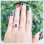 แหวนทับทิมแท้ หลังเบี้ย สีแดงเลือดนก สวยเก๋ดูดีมีสไตล์ thumbnail 5