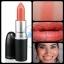 MAC Cremesheen Lipstick Ravishing 3g. (ขนาดปกติ) ลิปสติกสีส้มอ่อน สีขายดีอีกสีของ MAC