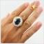 แหวนนิลแท้ เงินแท้ ชุบทองคำขาว thumbnail 5