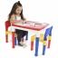 โต๊ะเลโก้เอนกประสงค์ทรงเหลี่ยม Tot Tutors 2-in-1 Plastic LEGO Compartible Activity Table & 2 Chairs Set thumbnail 2